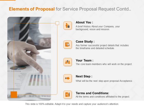 Request Corporate Work Elements Of Proposal For Service Proposal Ppt Icon Styles PDF