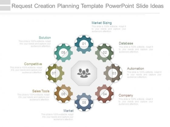 Request Creation Planning Template Powerpoint Slide Ideas