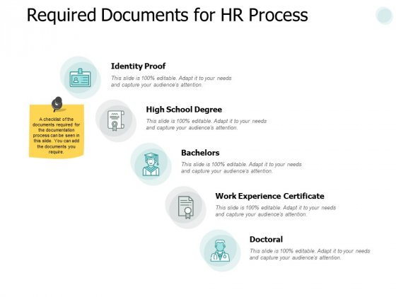 Required Documents For Hr Process Ppt PowerPoint Presentation Slides Guidelines