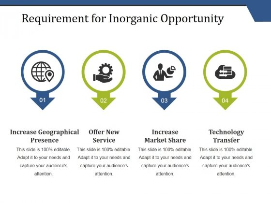 Requirement For Inorganic Opportunity Ppt PowerPoint Presentation Professional Information
