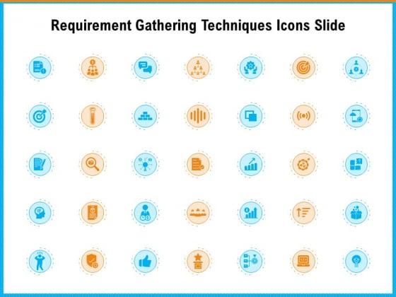Requirement Gathering Techniques Icons Slide Structure PDF
