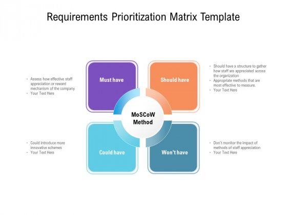 Requirements Prioritization Matrix Template Ppt PowerPoint Presentation Layouts Graphics Tutorials PDF
