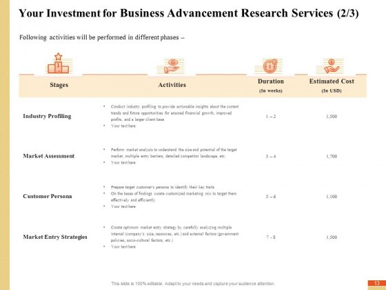 Research_Advancement_Services_Proposal_Ppt_PowerPoint_Presentation_Complete_Deck_With_Slides_Slide_13