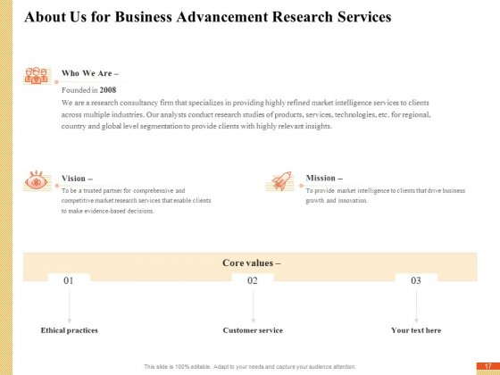 Research_Advancement_Services_Proposal_Ppt_PowerPoint_Presentation_Complete_Deck_With_Slides_Slide_17