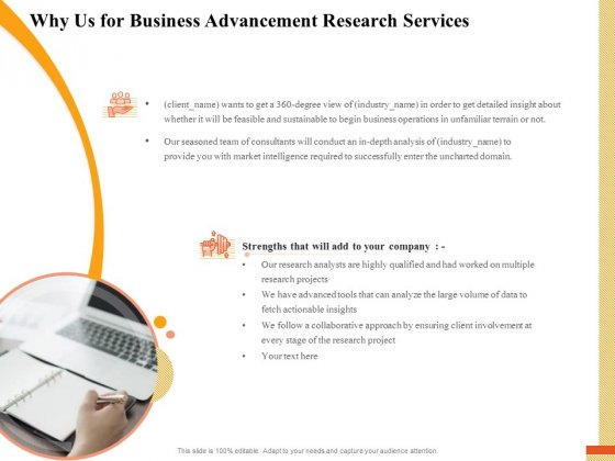 Research Advancement Services Why Us For Business Advancement Research Services Information PDF