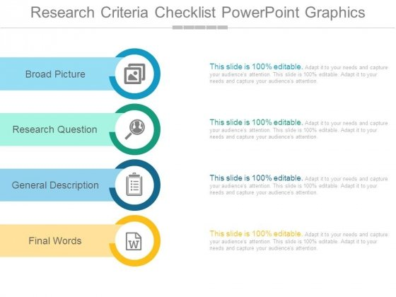 research criteria checklist powerpoint graphics powerpoint templates