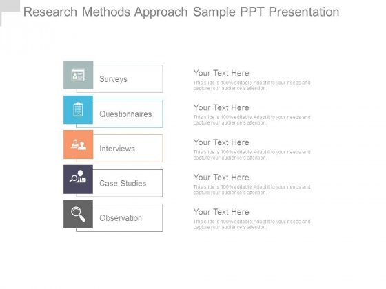 Research Methods Approach Sample Ppt Presentation