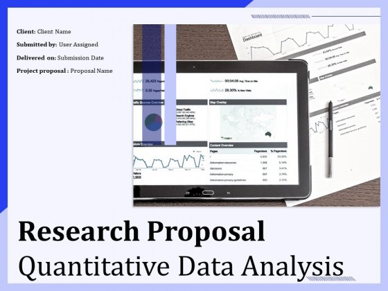 Research Proposal Quantitative Data Analysis Ppt PowerPoint Presentation Complete Deck With Slides