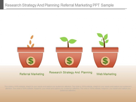 Research Strategy And Planning Referral Marketing Ppt Sample