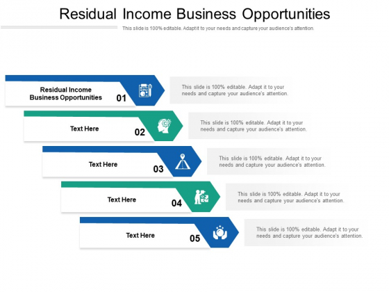 Residual Income Business Opportunities Ppt PowerPoint Presentation Styles Layout Cpb Pdf