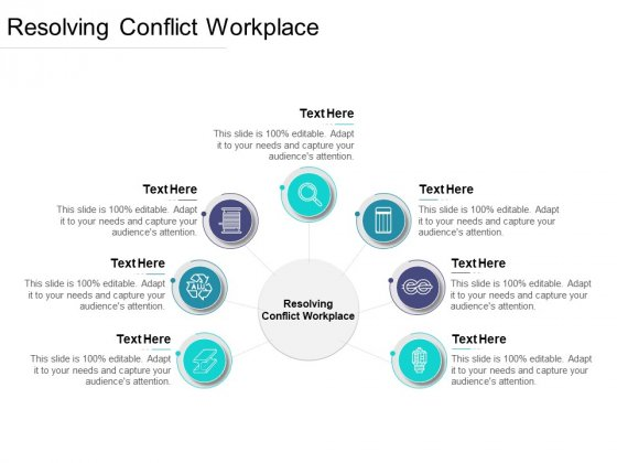 Resolving Conflict Workplace Ppt PowerPoint Presentation Inspiration Objects Cpb Pdf