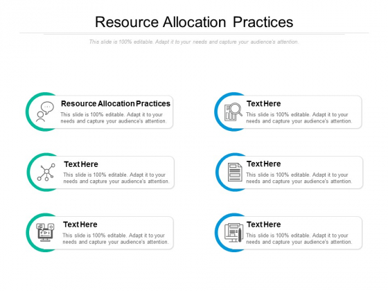 Resource Allocation Practices Ppt PowerPoint Presentation Gallery Good Cpb