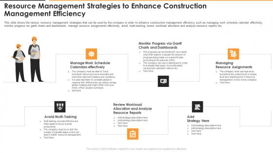 Resource Management Strategies To Enhance Construction Management Efficiency Background PDF