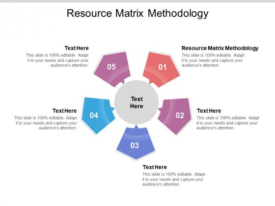 Resource Matrix Methodology Ppt PowerPoint Presentation Infographic Template Structure Cpb Pdf
