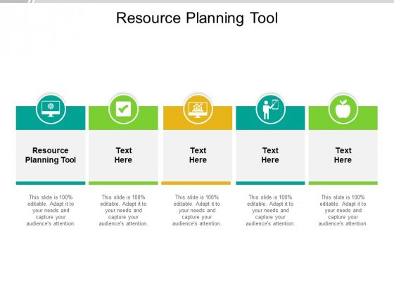 Resource Planning Tool Ppt PowerPoint Presentation Slides Introduction Cpb