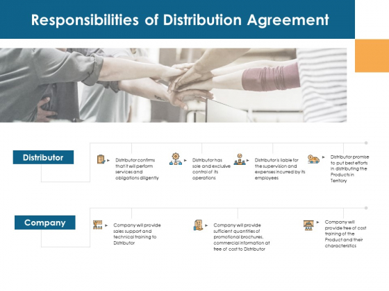 Responsibilities Of Distribution Agreement Company Ppt PowerPoint Presentation Layouts Smartart