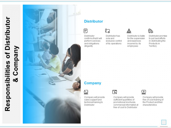Responsibilities Of Distributor And Company Ppt PowerPoint Presentation Styles Smartart
