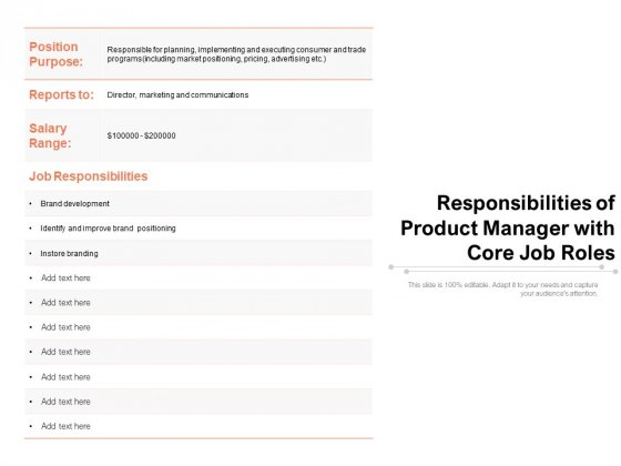 Responsibilities_Of_Product_Manager_With_Core_Job_Roles_Ppt_PowerPoint_Presentation_Samples_PDF_Slide_1