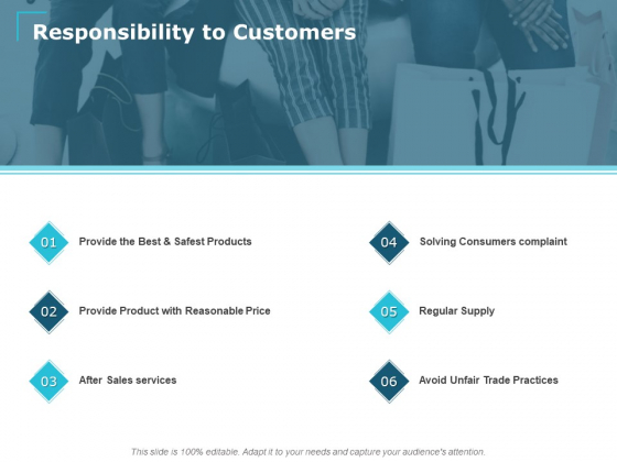 Responsibility To Customers Ppt PowerPoint Presentation Infographics Grid