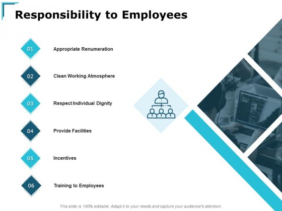Responsibility To Employees Ppt PowerPoint Presentation Inspiration Example
