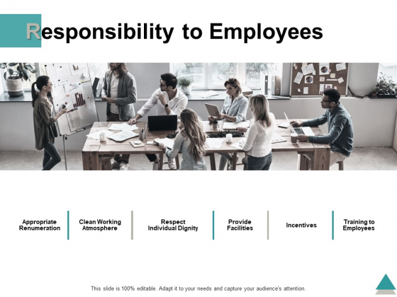 Responsibility To Employees Ppt PowerPoint Presentation Pictures Model