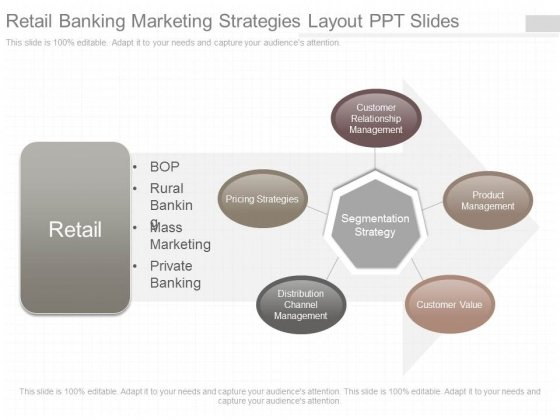 Retail Banking Marketing Strategies Layout Ppt Slides