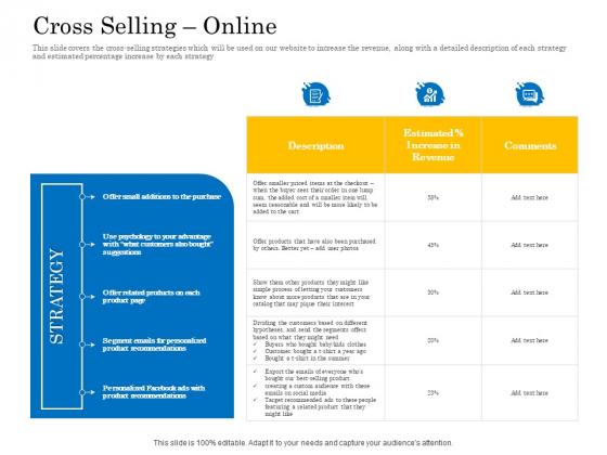 Retail Cross Selling Techniques Cross Selling Online Slides PDF