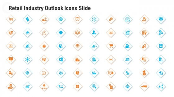 Retail Industry Outlook Icons Slide Infographics PDF