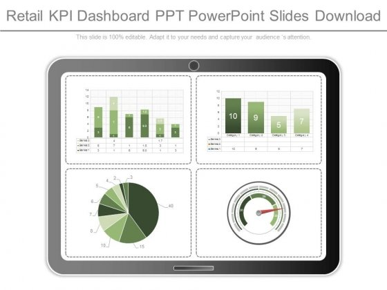 Retail Kpi Dashboard Ppt Powerpoint Slides Download