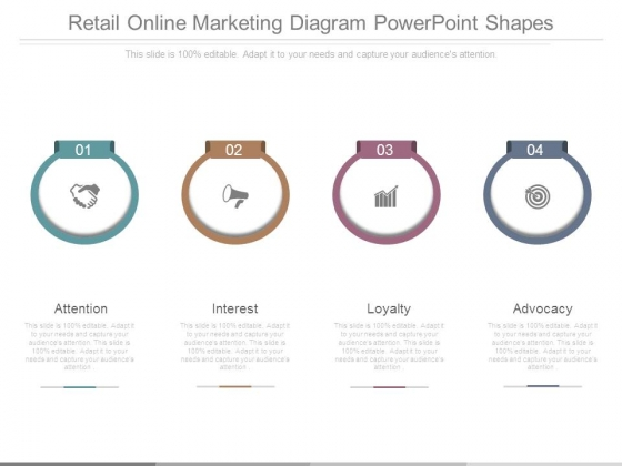 Retail Online Marketing Diagram Powerpoint Shapes