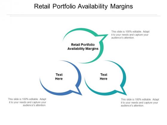 Retail Portfolio Availability Margins Ppt PowerPoint Presentation Inspiration Images Cpb Pdf