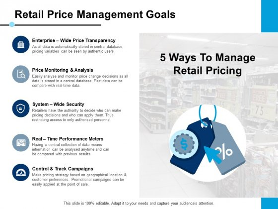 Retail Price Management Goals Price Monitoring And Analysis Ppt PowerPoint Presentation Slides Good