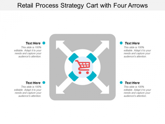 Retail Process Strategy Cart With Four Arrows Ppt Powerpoint Presentation Icon Clipart Images