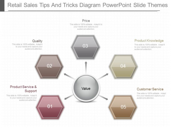 Retail Sales Tips And Tricks Diagram Powerpoint Slide Themes