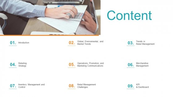 Retail Sector Introduction Content Structure PDF