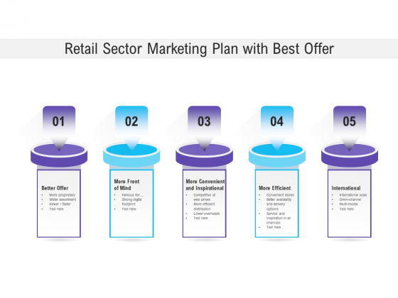 Retail Sector Marketing Plan With Best Offer Ppt PowerPoint Presentation Inspiration Graphics PDF