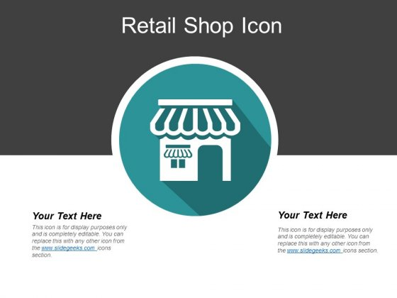 Retail Shop Icon Ppt PowerPoint Presentation Infographic Template Guide