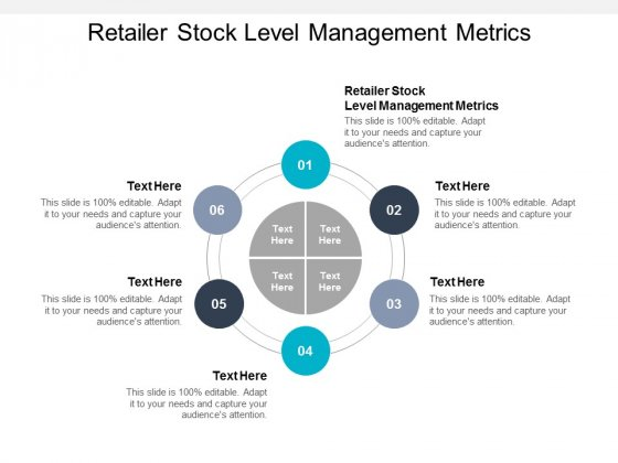 Retailer Stock Level Management Metrics Ppt PowerPoint Presentation Example File Cpb