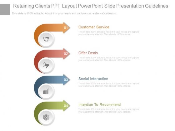 Retaining Clients Ppt Layout Powerpoint Slide Presentation Guidelines