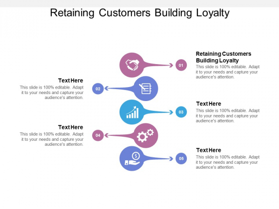 Retaining Customers Building Loyalty Ppt PowerPoint Presentation Outline Display Cpb
