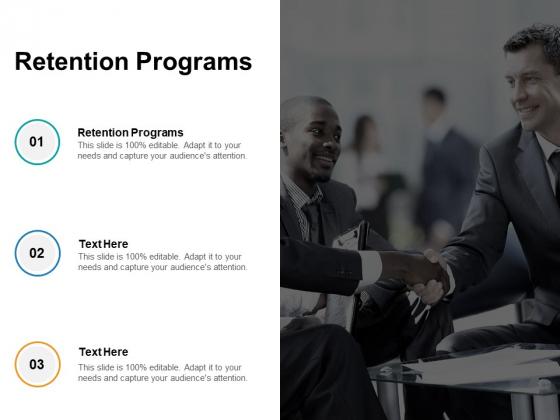 Retention Programs Ppt PowerPoint Presentation Summary Examples Cpb Pdf