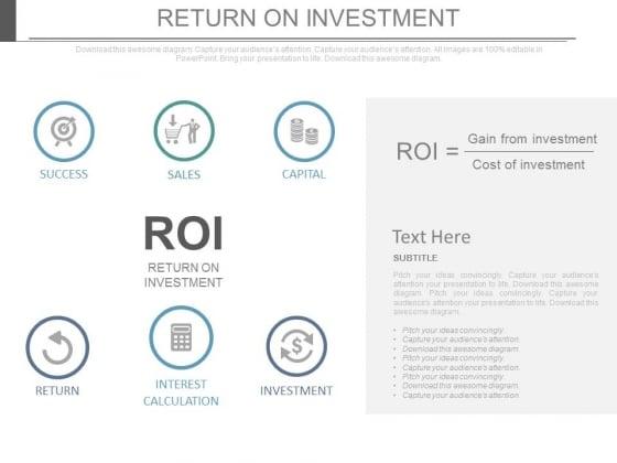 Return On Investment Business Ppt Slides
