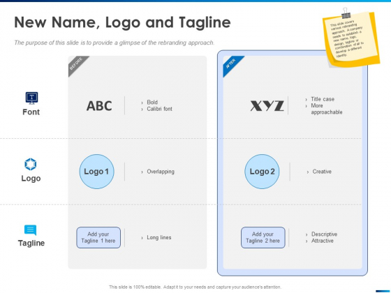 Revamping Firm Presence Through Relaunching New Name Logo And Tagline Ppt PowerPoint Presentation Icon Gallery PDF