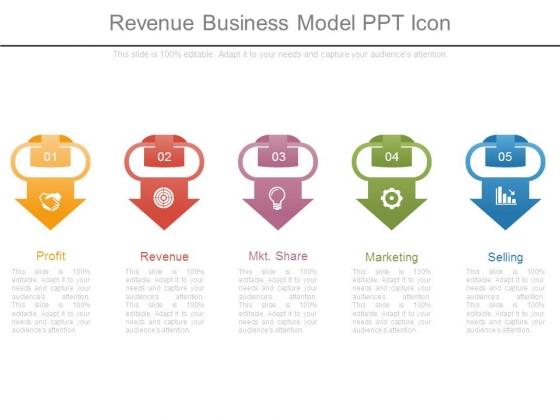 Revenue Business Model Ppt Icon