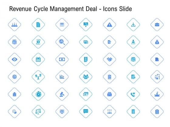 Revenue Cycle Management Deal Icons Slide Ppt Ideas Portfolio PDF