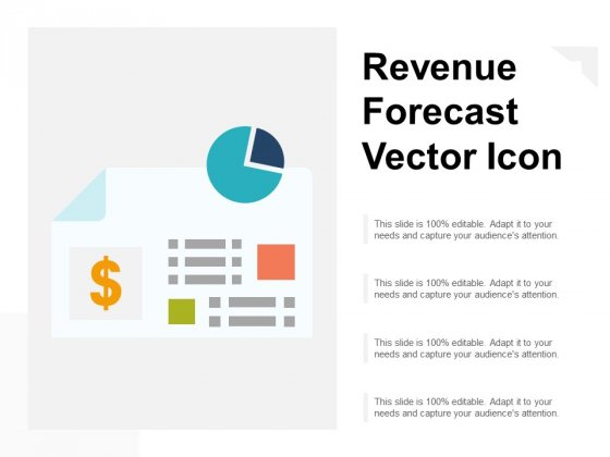 Revenue Forecast Vector Icon Ppt PowerPoint Presentation Infographics Graphics Pictures