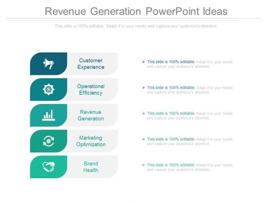 Revenue Generation Powerpoint Ideas