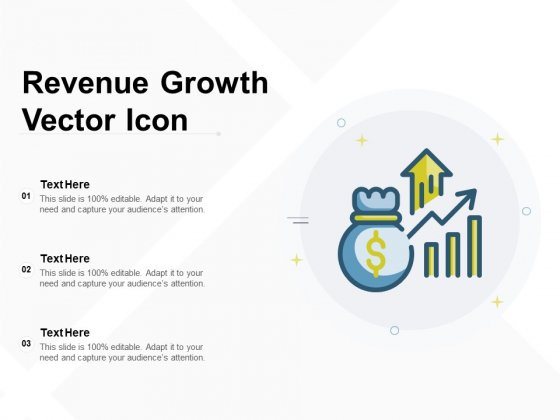 Revenue Growth Vector Icon Ppt PowerPoint Presentation Infographics Background Image PDF