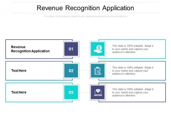 Revenue Recognition Application Ppt PowerPoint Presentation Inspiration Clipart Cpb Pdf