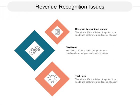 Revenue Recognition Issues Ppt PowerPoint Presentation Visual Aids Deck Cpb